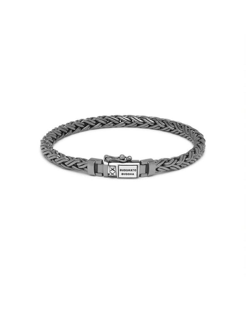 Buddha to Buddha J170BR SS D  Katja XS Bracelet Black Rhodium Shine Silver