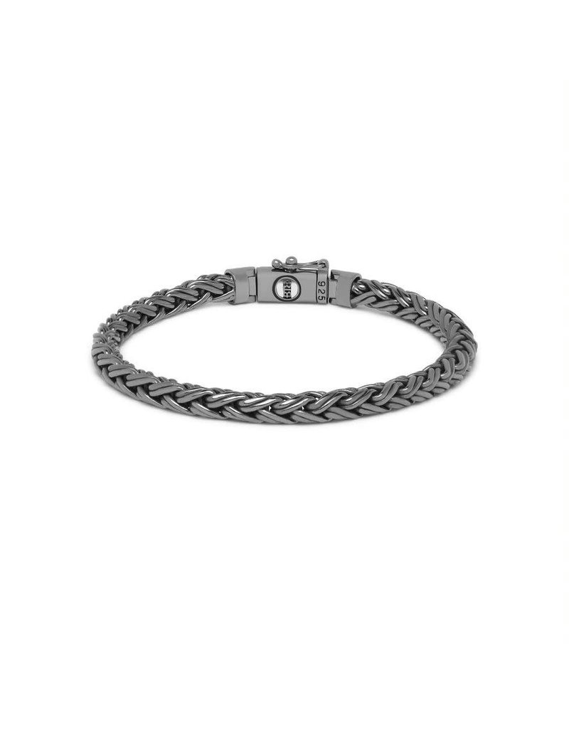 Buddha to Buddha J170BR SS E  Katja XS Bracelet Black Rhodium Shine Silver