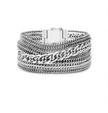 Buddha to Buddha 124 E  Multi Chain Nathalie Bracelet Silver
