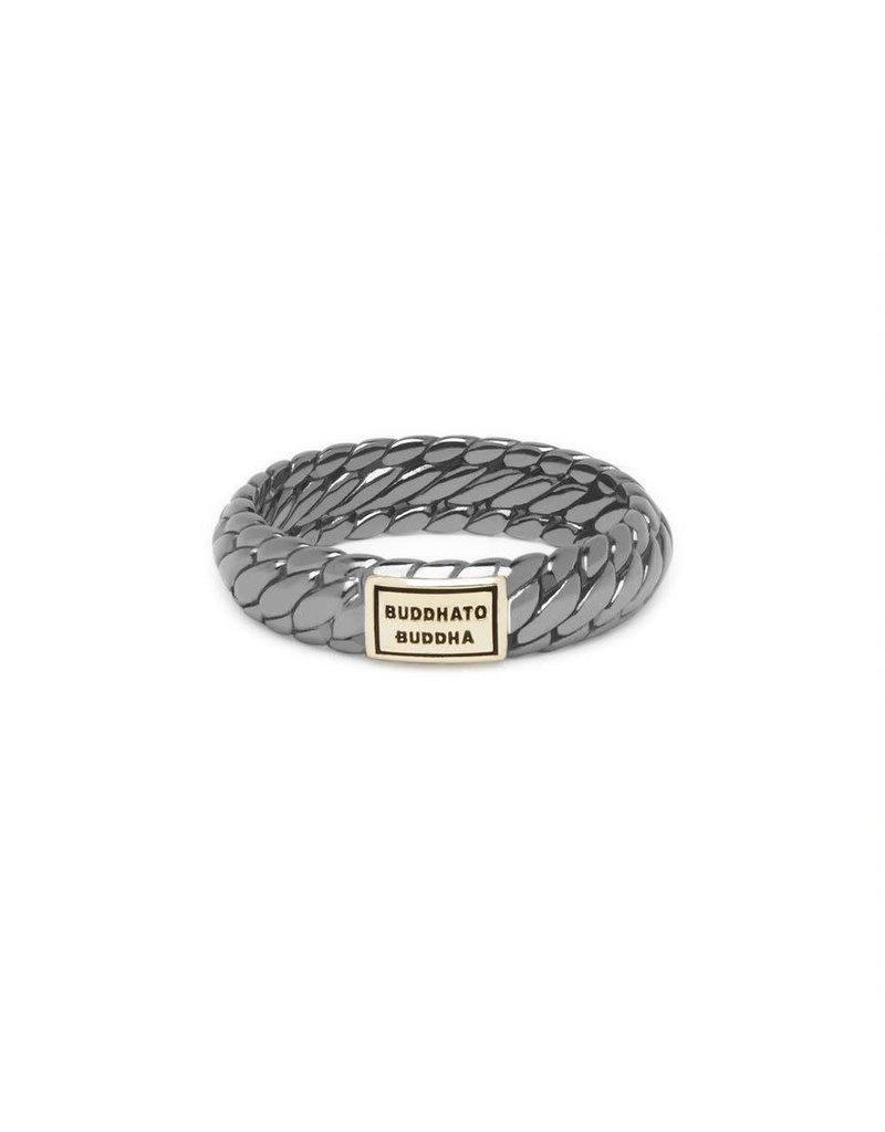 Buddha to Buddha 125BR SG 17  Ben XS Ring Black Rhodium Shine Gold 14kt