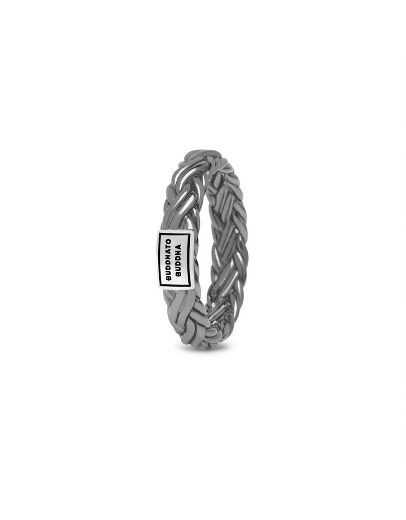 Buddha to Buddha 605BR SS 17  Katja XS Ring Black Rhodium Shine Silver