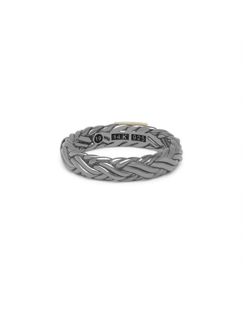 Buddha to Buddha 605BR SG 17  Katja XS Ring Black Rhodium Shine Gold 14kt