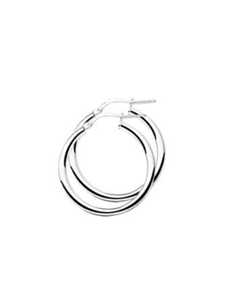 Blinckers Jewelry Huiscollectie 13.22186 oorbellen Creool Zilver 25x2.5 mm