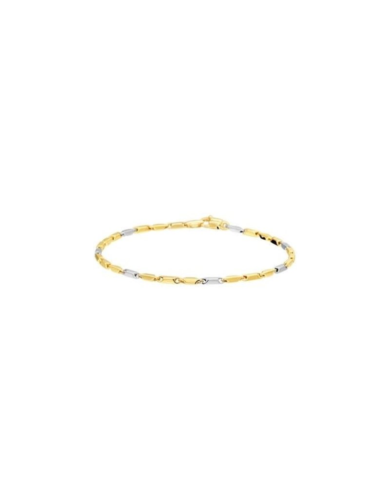 Blinckers Jewelry Huiscollectie  42.08160 Armband Bicolour 14 Krt Goud 19.5 CM