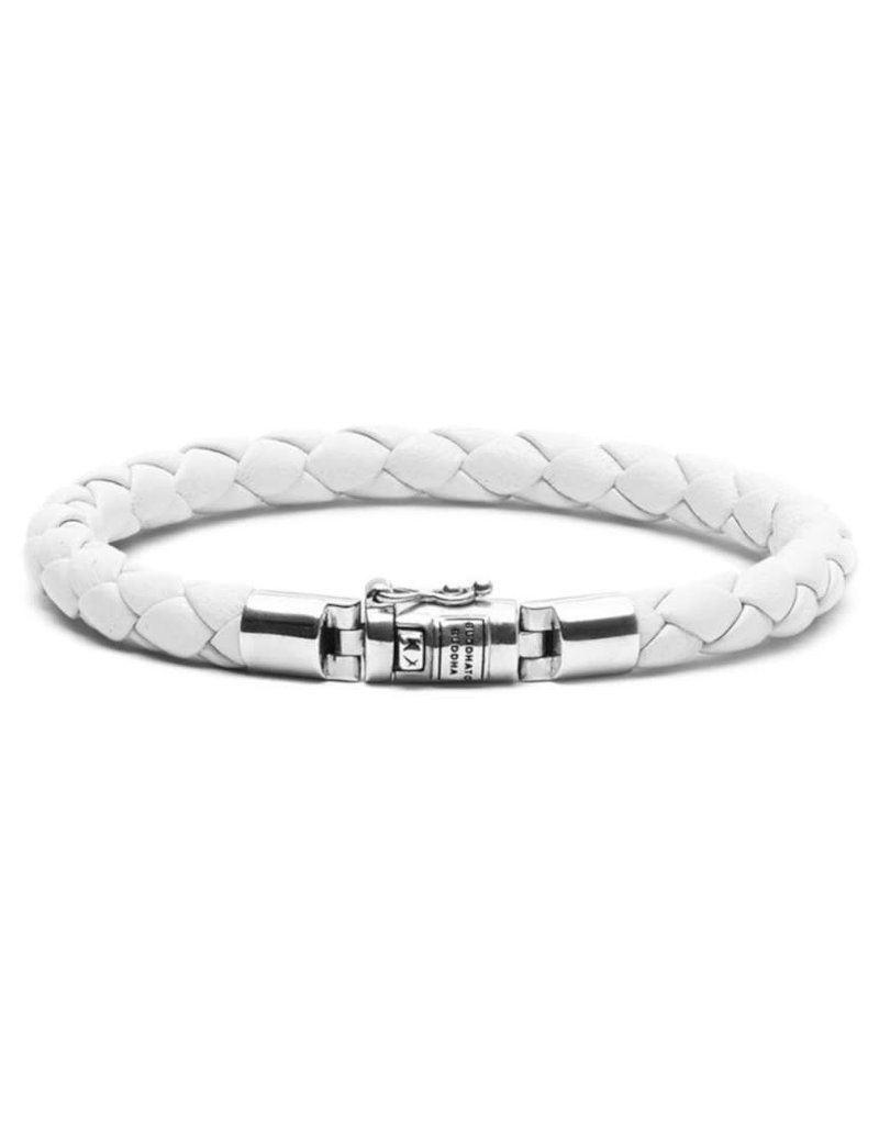 Buddha to Buddha 545WH D Armband Ben XS Round Leather White