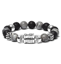 Buddha to Buddha 188MG F Armband Spirit Mix Grey Picasso Jasper