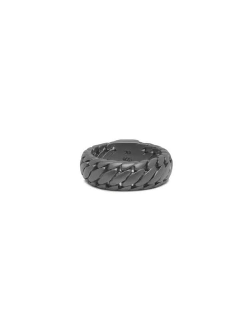 Buddha to Buddha 542BRS 18 Ring Black Rhodium Silver Maat 18