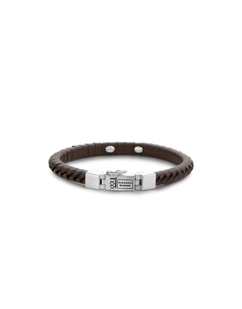 Buddha to Buddha Buddha to Buddha -162BR Komang Small Leather Bracelet Brown - Ladies 19CM