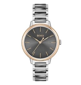 Hugo Boss Hugo Boss HB1502569 horloge dames Signature staal grijs