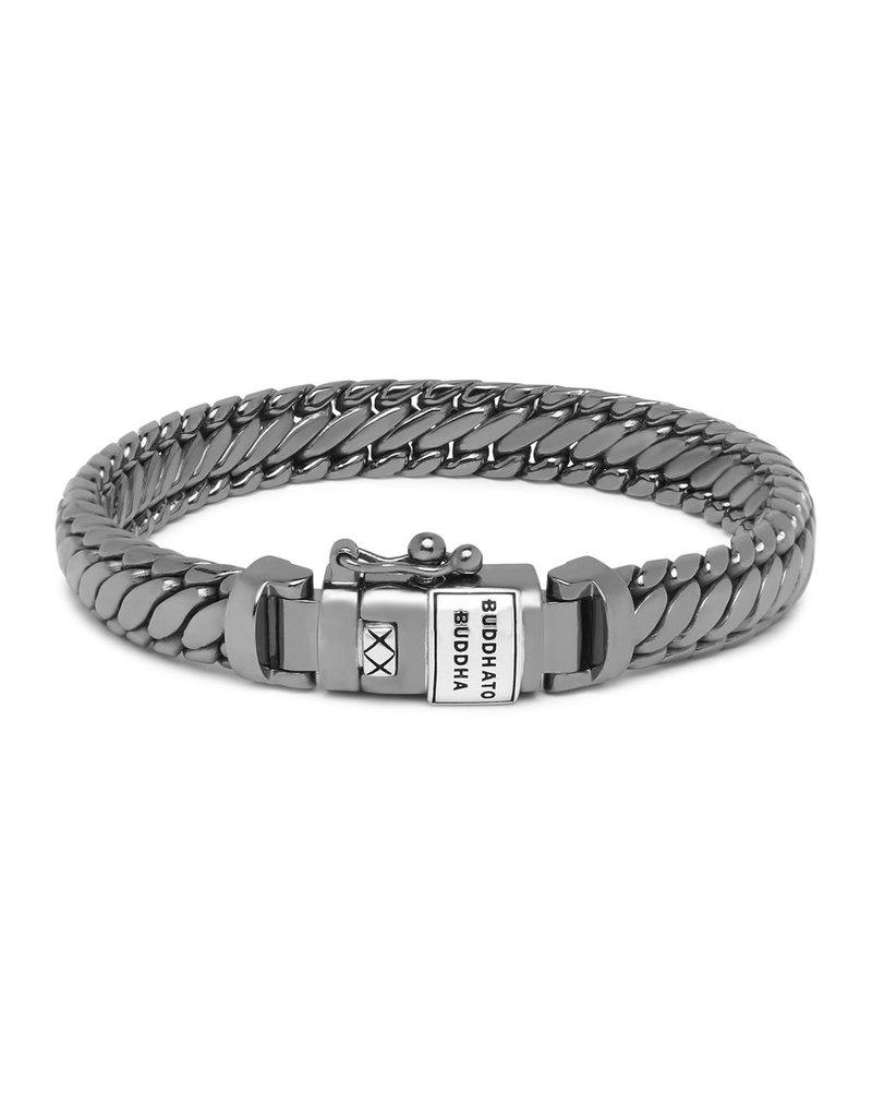 Buddha to Buddha J070BR SS D  Ben XS Bracelet Black Rhodium Shine Silver