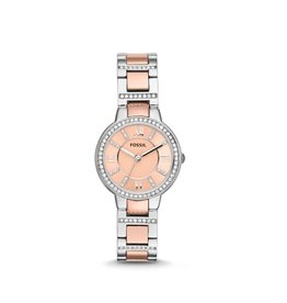 Fossil Fossil ES3405 horloge dames Staal/Rosé