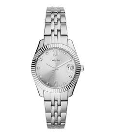 Fossil ES4897 Dames horloge staal met zilveren wijzerplaat