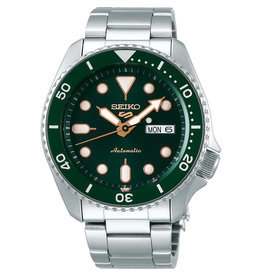 Seiko SRPD63K1 5 Sports Automatic Staal Groen
