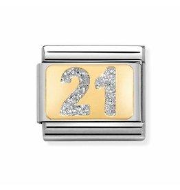 Nomination Composable 030224-02 Nomination Classic 21 goud met zilver emaille