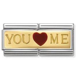 Nomination Composable 030720-01 Nomination classic dubbel goud you and me