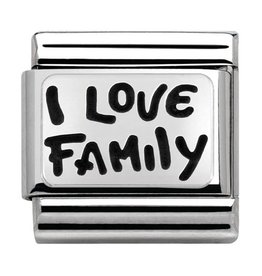 Nomination Composable 330102-34 Nomination classic zilver I Love my family