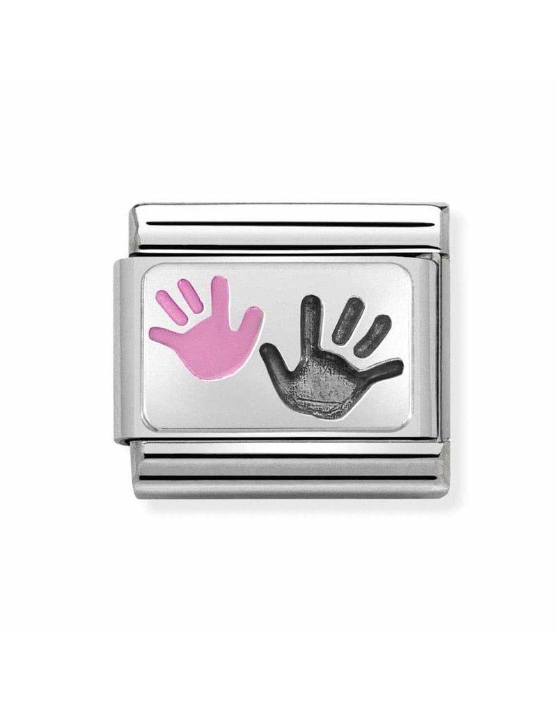Nomination Composable 330208-42 Nomination classic zilver hand dochter ouder