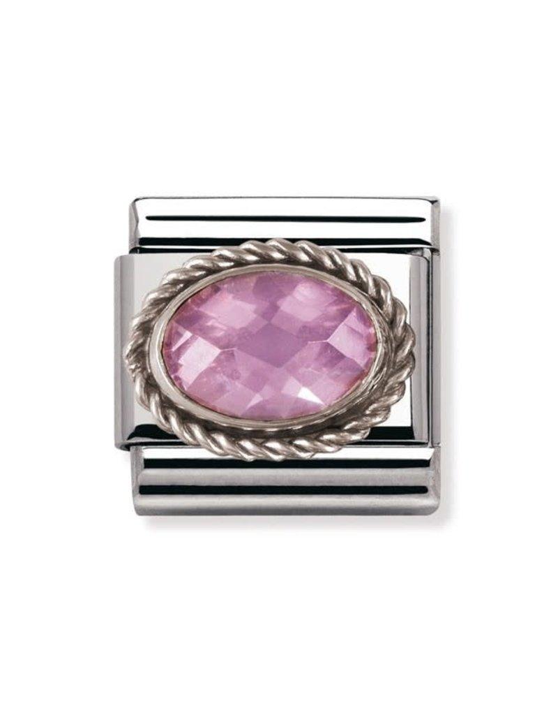 Nomination Composable 330604-003 Nomination classic zilver rose chrystal facet
