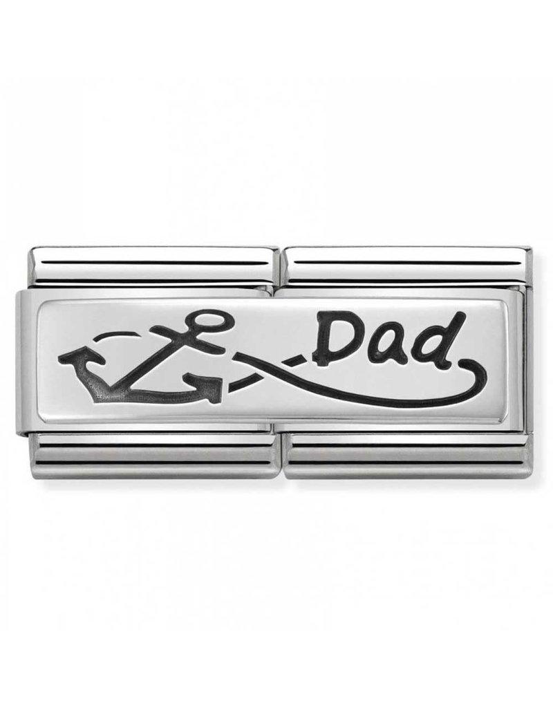 Nomination Composable 330710-05 Nomination classic zilver dubbel infinity Dad