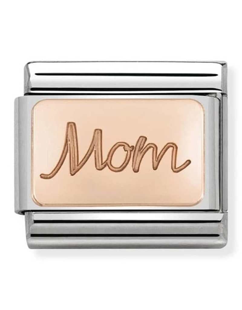 Nomination Composable 430101-33 Nomination classic 9krt rosé goud Mom plate