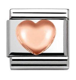 Nomination Composable 430104-22 Nomination classic 9krt rosé goud hart