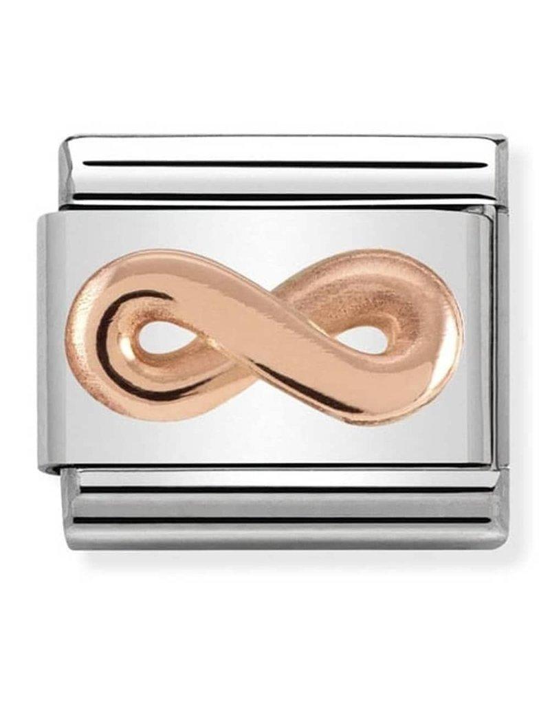 Nomination Composable 430106-03 Nomination classic 9 krt rosé goud infinity