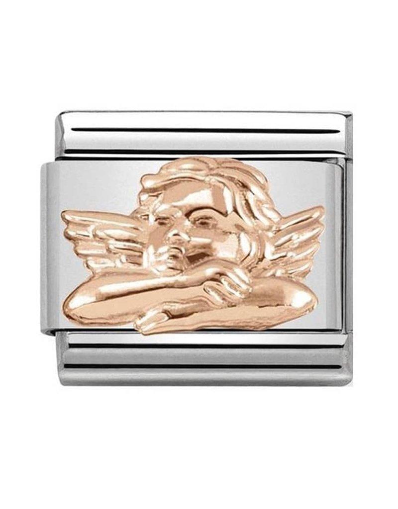 Nomination Composable 430106-05 Nomination classic 9krt rosé goud angel of friendship