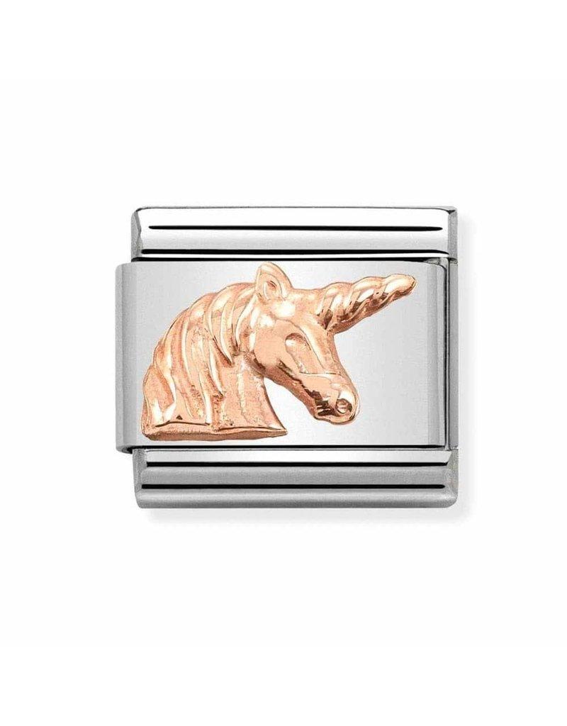 Nomination Composable 430106-18 Nomination classic 9 krt rosé goud unicorn