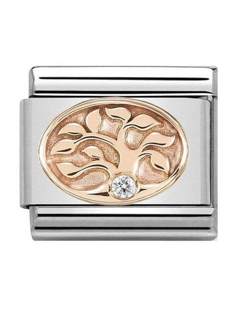 Nomination Composable 430305-12 Nomination classic 9 krt rosé goud levensboom