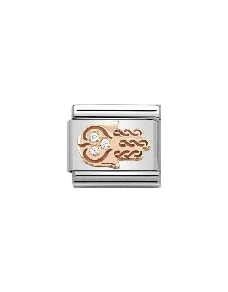 Nomination Composable 430305-33 Nomination classic 9 krt rosé goud Hand of Fatima