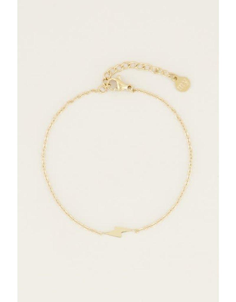My Jewellery Armband Bliksem - Goud