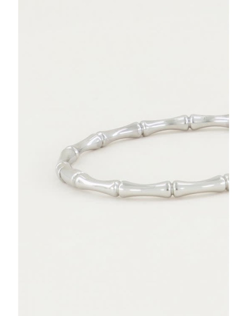 Armband Bangle Bamboe - Zilver