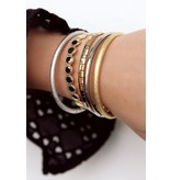 Armband Bangle Glimmend - Zilver
