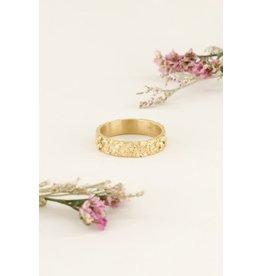 My Jewellery Ring Breed Bloemtjes