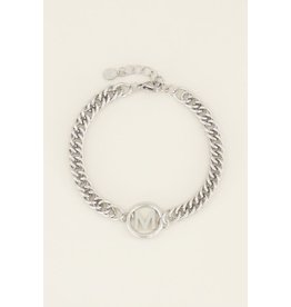 My Jewellery Armband Chunky Initials - Leter R
