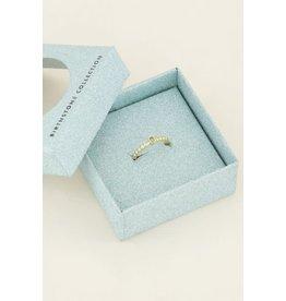 My Jewellery Geboortesteen Ring Maart - Goud