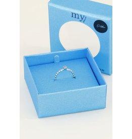 My Jewellery Geboortesteen Ring Oktober - zilver