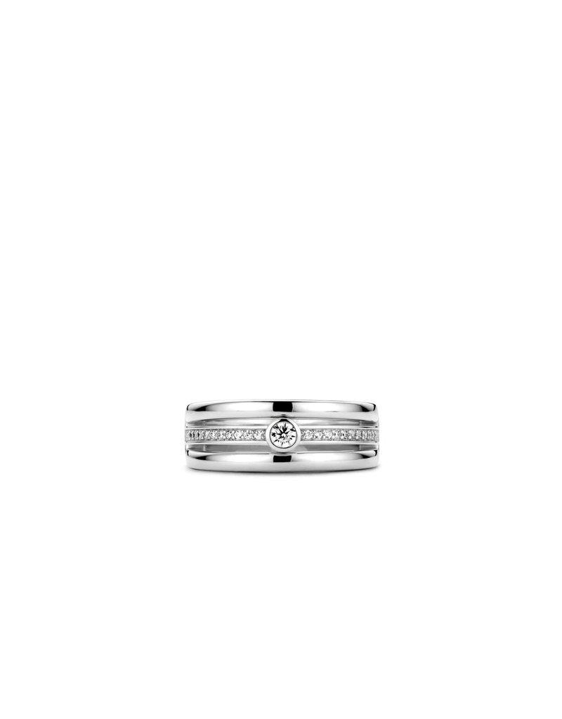 Ti Sento Milano Ring 12094ZI zilver met zirkonia
