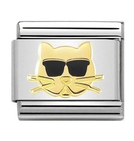 Nomination Composable 030272-44 Nomination classic Cat with glasses