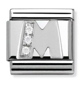 Nomination Composable 330301-13 Nomination classic letter M zilver met zirkonia