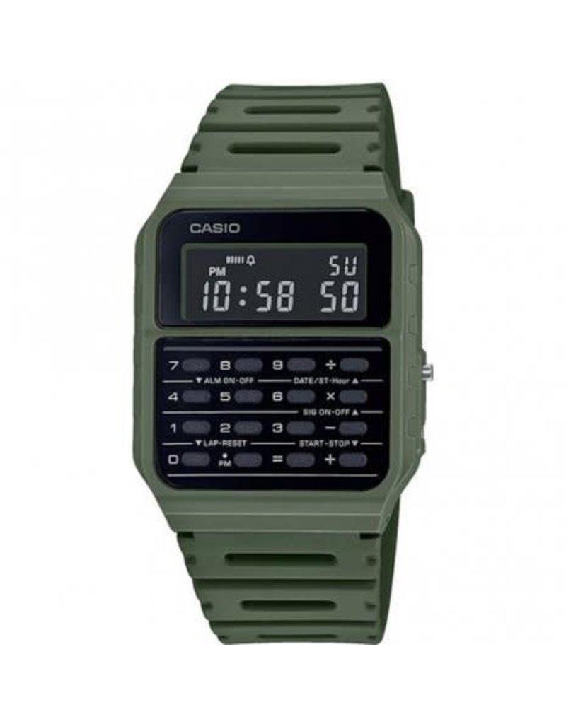Casio CA-53WF-3BEF Horloge digitaal met calculator groen