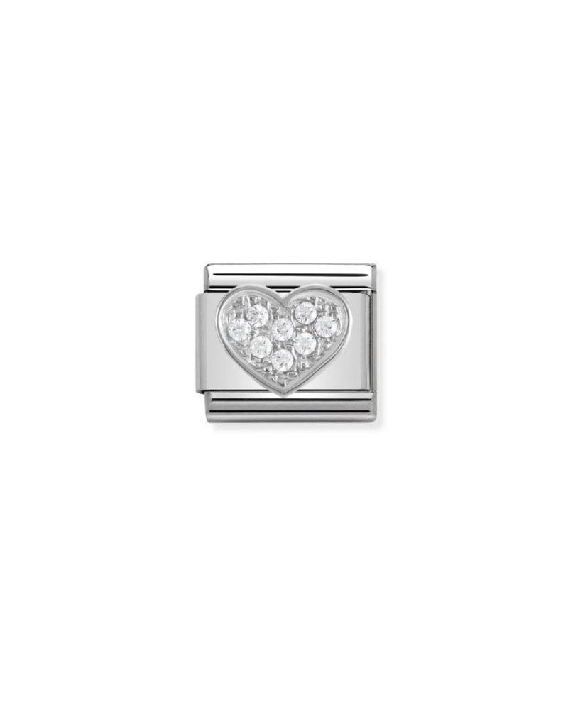 Nomination Composable 33030401 Nomination classic hart  zilver met zirconia