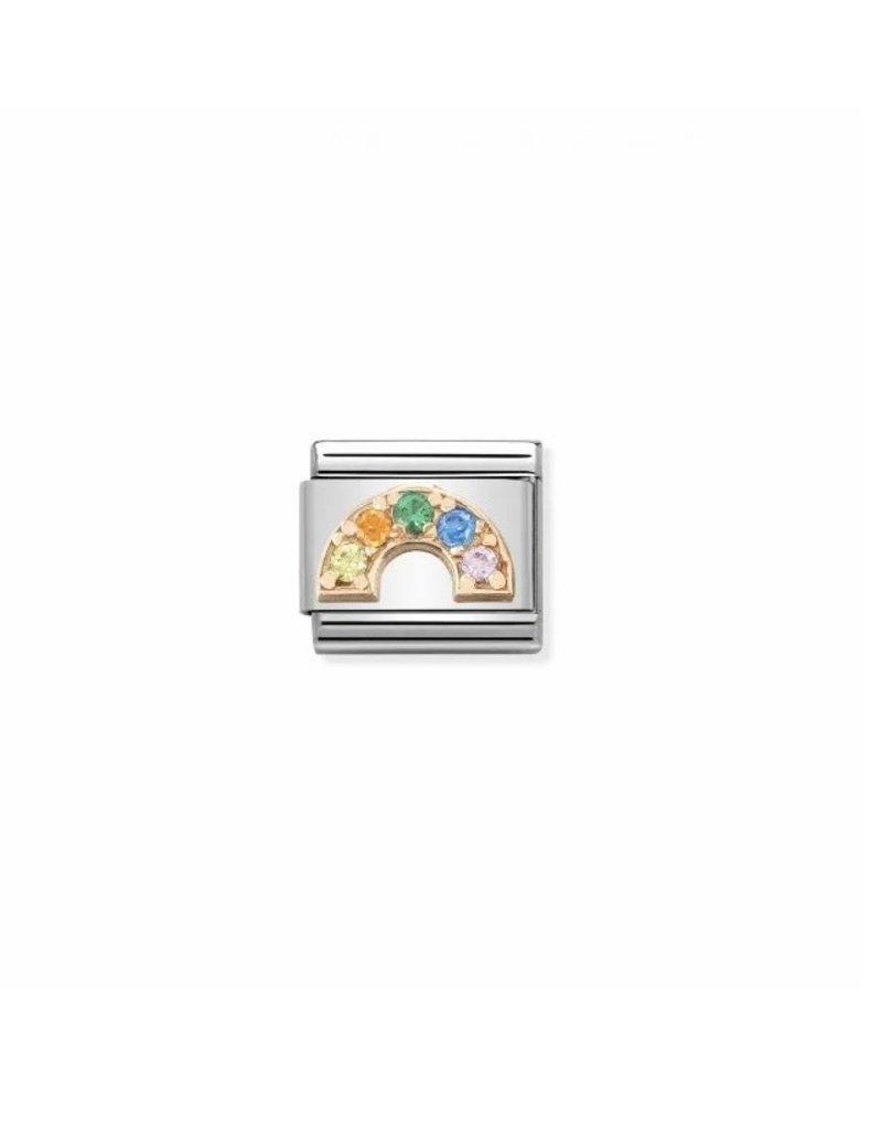 Nomination Composable 43030232 Nomination Classic 9k rose gouden regenboog met zirconia