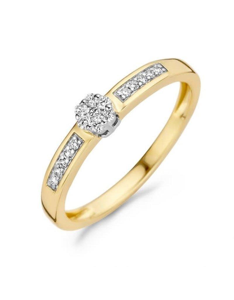 Blush Blush 1623BDI/54 Ring 14 Krt Goud bicolour met Diamant 0.12 Krt