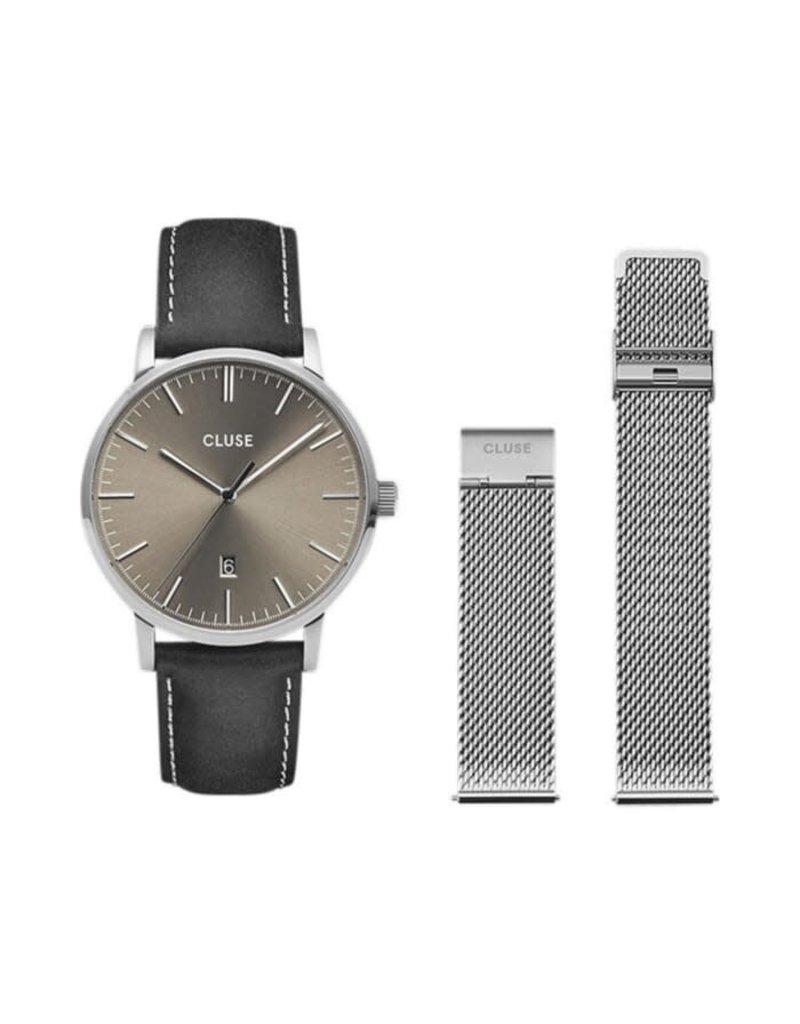 Cluse cg1519501001 Arivas gift set stalen horloge
