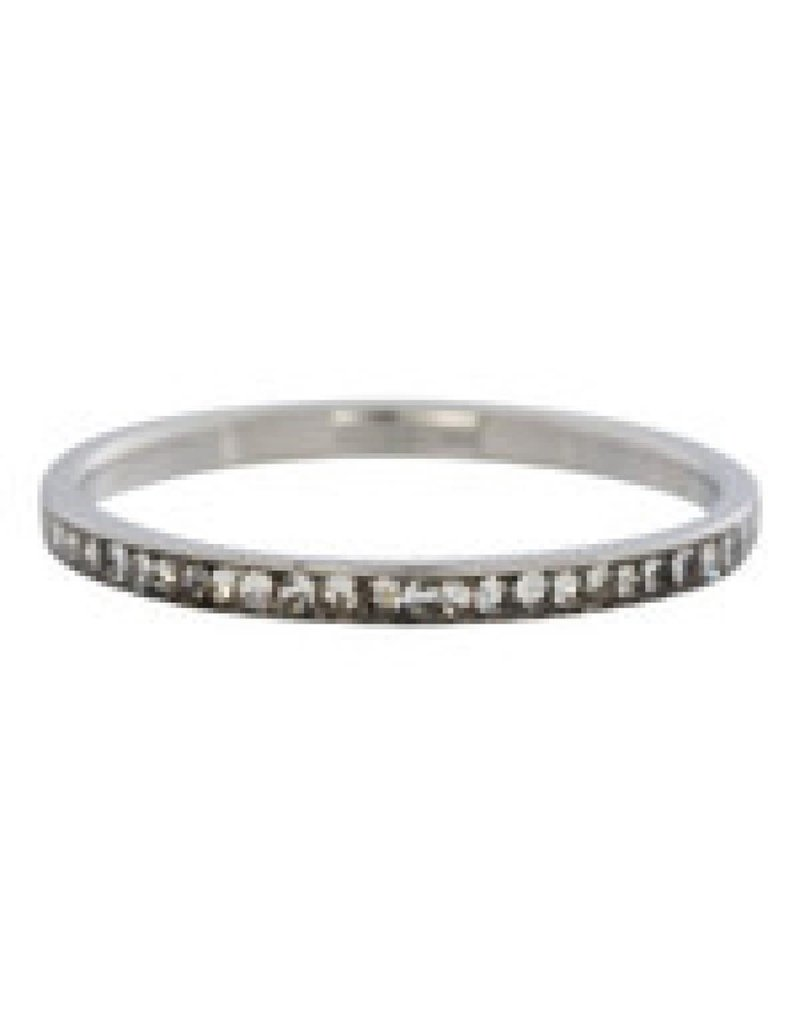 iXXXi Copy of iXXXi R2501-03 19 Ring Smal Zirkonia Crystal Silver - Maat 20.00 mm (63)