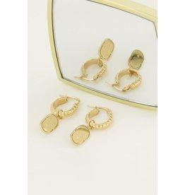 My Jewellery MJ044761200 Oorringen munt love goud kleur