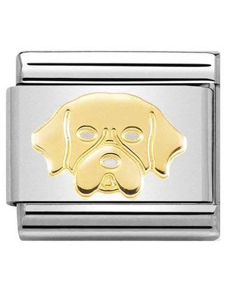 Nomination Composable 030162-56 Nomination Classic goud Golden retriver