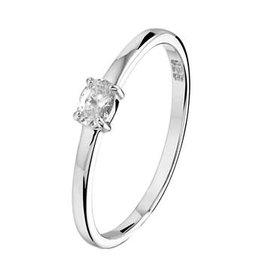 Blinckers Jewelry Huiscollectie 1330192 Ring  mt 15 zilver met witte zirconia steen in zetting