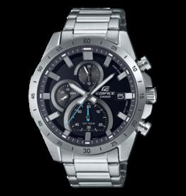 Edifice EFR-571D-1AVUEF horloge chronograaf staal met blauwe accenten